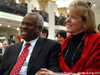 Clarence Thomas and wife Virginia
