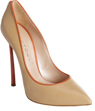 piped beige pigalle pumps